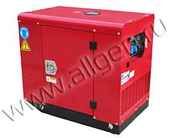 Портативный дизельный генератор АМПЕРОС LDG7500CLE-3 мощностью 6 кВт