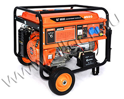 Портативный генератор MVAE БГ 6500 мощностью 6.5 кВт)