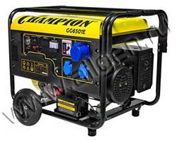 Портативный генератор Champion GG6501E+ATS мощностью 5.5 кВт)