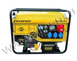 Портативный генератор Champion GG7501E-3 мощностью 6.5 кВт)