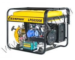 Портативный генератор Champion LPG6500E мощностью 5.5 кВт)