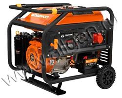 Портативный генератор Daewoo GDA 7800E-3 мощностью 6.5 кВт)