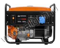 Портативный генератор Daewoo GDA 6500 мощностью 5.5 кВт)
