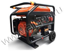 Портативный генератор Daewoo GDA 7500E-3 мощностью 6.5 кВт)