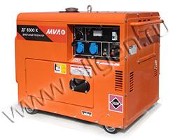 Портативный генератор MVAE ДГ 6300 К мощностью 6.3 кВт)