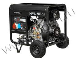 Портативный генератор Hyundai DHY 6000LE-3 мощностью 5.5 кВт)