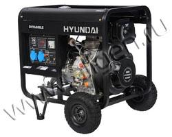 Портативный генератор Hyundai DHY 6000LE мощностью 5.5 кВт)