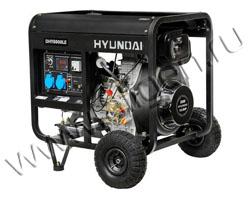 Портативный генератор Hyundai DHY 8000LE мощностью 6 кВт)