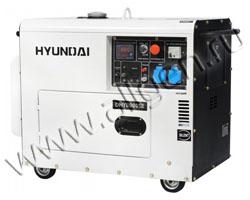 Портативный генератор Hyundai DHY 8000SE мощностью 6 кВт)