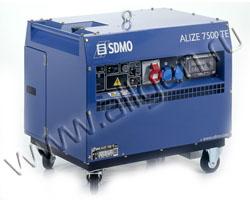 Портативный генератор SDMO ALIZE 7500 TE мощностью 6 кВт)