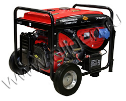 Портативный генератор DDE DPG6501 мощностью 6.5 кВт)