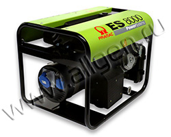 Портативный генератор Pramac ES 8000 мощностью 6.4 кВт)