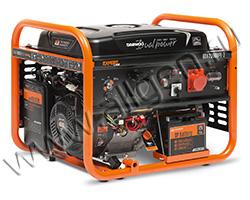 Портативный генератор Daewoo GDA 7500DPE-3 мощностью 6.5 кВт)