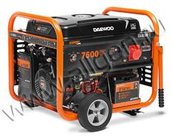 Портативный бензиновый генератор Daewoo GDA 8500E-3 мощностью 7.5 кВт
