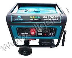 Портативный генератор Gesht GG7000E3 мощностью 8.7 кВт)