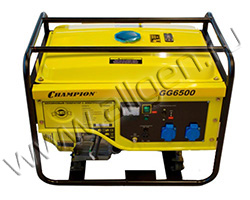 Портативный генератор Champion GG6500EBS мощностью 5.5 кВт)