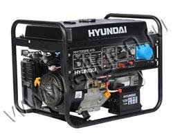 Портативный генератор Hyundai HHY 7000FE мощностью 5.5 кВт)
