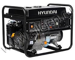 Портативный генератор Hyundai HHY 7010F мощностью 5.5 кВт)