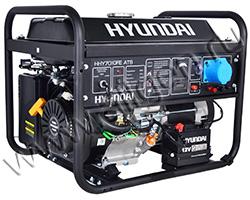 Портативный генератор Hyundai HHY 7010FE мощностью 5.5 кВт)
