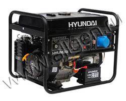 Портативный генератор Hyundai HHY 9000FE мощностью 6.5 кВт)