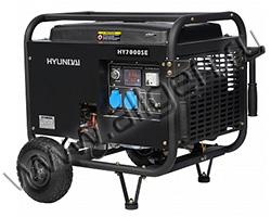 Портативный генератор Hyundai HY 7000SE мощностью 5.5 кВт)