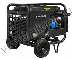 Портативный генератор Hyundai HY 9000SER мощностью 6.5 кВт)