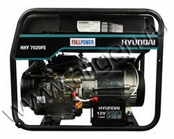 Портативный генератор Hyundai HHY 7020FE мощностью 5.5 кВт)