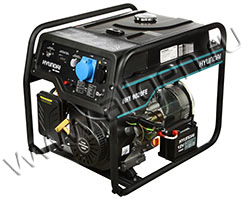 Портативный генератор Hyundai HHY 9020FE мощностью 6.5 кВт)