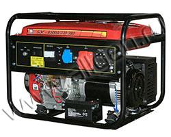 Портативный бензиновый генератор Калибр БЭГ-6500А/220/380 мощностью 6.2 кВт