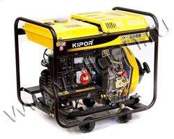 Портативный генератор Kipor KGE6500E3 мощностью 5.5 кВт)