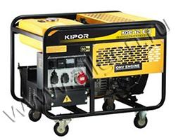 Портативный генератор Kipor KGE12E3 мощностью 8.8 кВт)