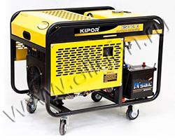 Портативный генератор Kipor KGE12E мощностью 8.8 кВт)