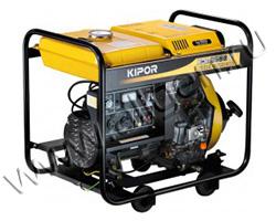 Портативный генератор Kipor KGE6500C мощностью 5.5 кВт)