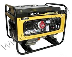 Портативный генератор Kipor KGE6500X3 мощностью 5.5 кВт)