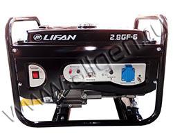 Бензиновый генератор LIFAN 2.8GF-6 мощностью 3 кВт