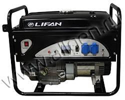 Бензиновый генератор LIFAN 4GF-3 мощностью 4.5 кВт