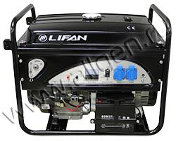 Бензиновый генератор LIFAN 4GF-4 мощностью 4.5 кВт