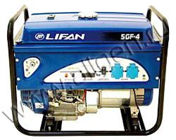 Портативный генератор LIFAN 5GF-4 мощностью 5.5 кВт)