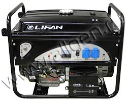 Портативный генератор LIFAN 5GF-5A мощностью 5.5 кВт)