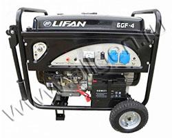Портативный генератор LIFAN 6GF-4 мощностью 6.5 кВт)