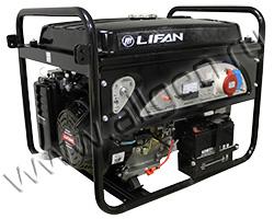 Портативный генератор LIFAN 6GF2-4 мощностью 6.5 кВт)