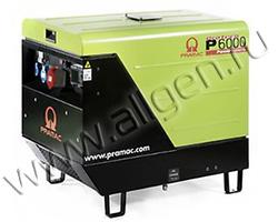 Портативный генератор Pramac P 6000 мощностью 5.5 кВт)