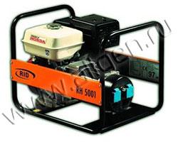 Портативный генератор RID RH 5001 мощностью 5.5 кВт)