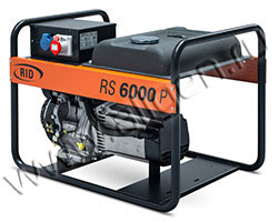 Портативный генератор RID RYS 6000 D мощностью 6.05 кВт)