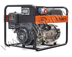 Портативный бензиновый генератор RID RS 7540 PAE мощностью 6 кВт