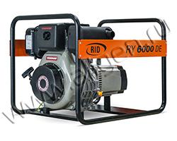 Портативный дизельный генератор RID RY 6000 DE мощностью 4.4 кВт