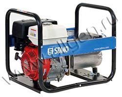 Портативный генератор SDMO HX 7500 T-C мощностью 6 кВт)