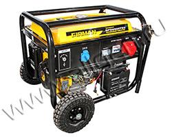 Портативный генератор FIRMAN SPG6500TE2 мощностью 5.5 кВт)