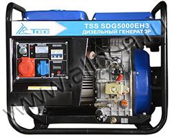 Портативный генератор ТСС TSS SDG 5000 EH3 мощностью 5.5 кВт)