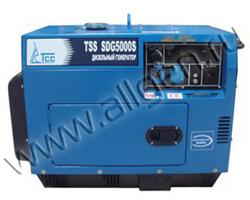 Портативный генератор ТСС TSS SDG 5000 ES мощностью 5.5 кВт)